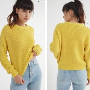 UO Andi Pullover Sweater Yellow